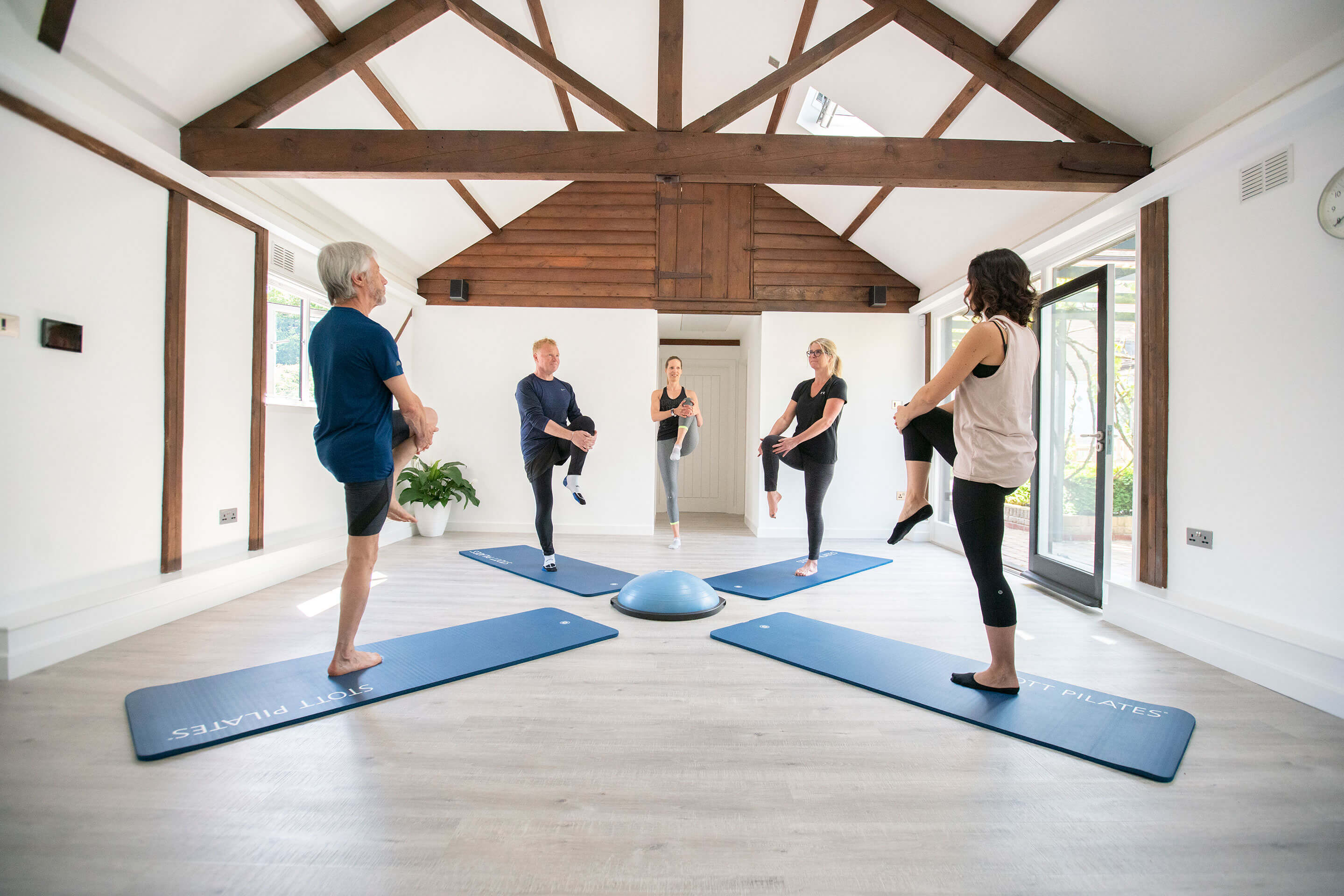 As well as Studio Pilates including equipment such as a reformer, Cadillac and Chair we also offer Mat Pilates