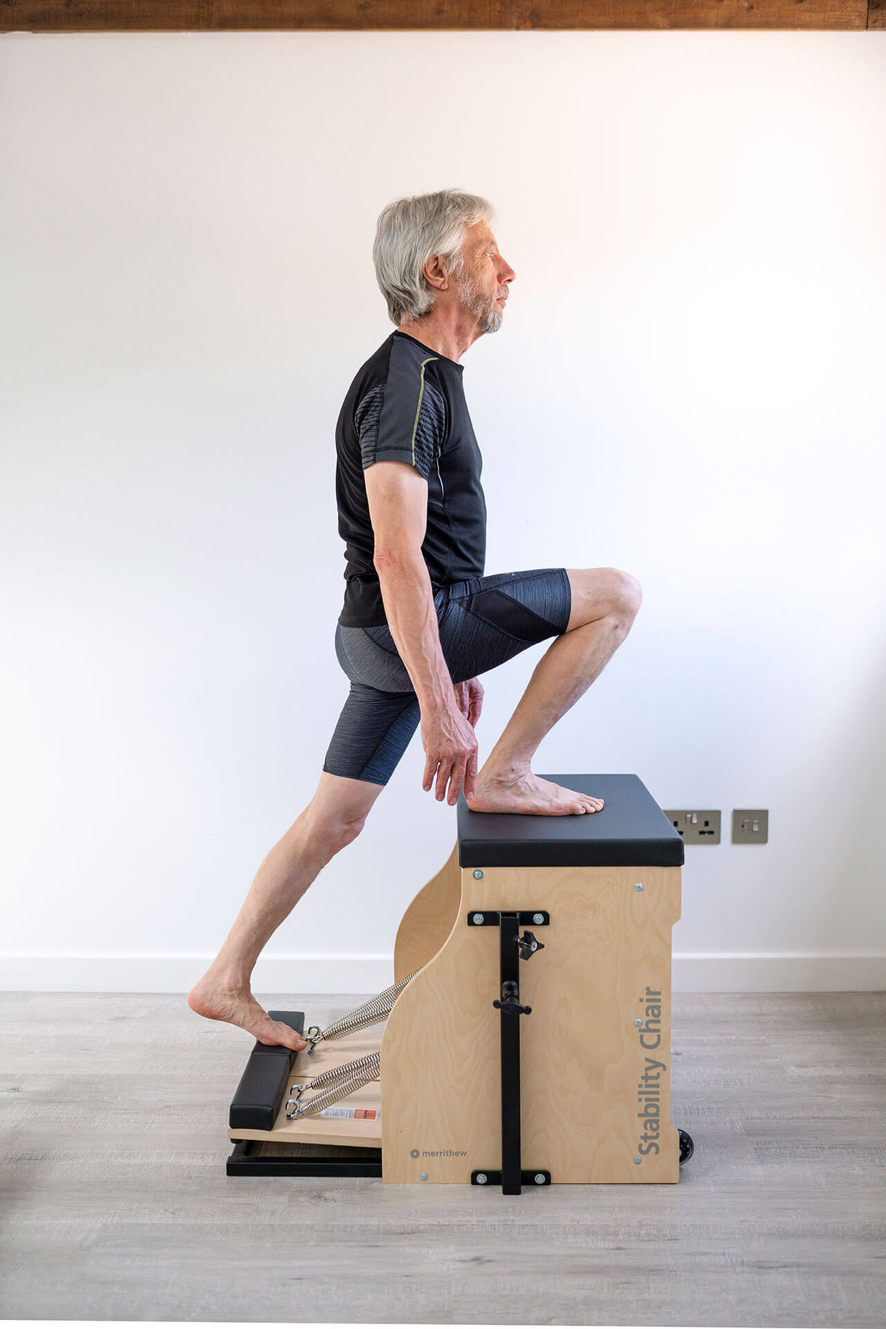 As well as the chair, we have a fully kitted out Pilates studio